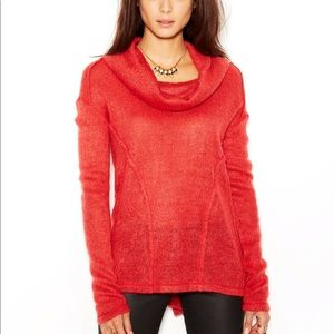 Sanctuary Red Cowl Neck Long Sleeve Sweater
